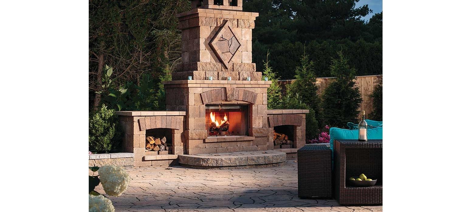 Fireplace outdoor living Rhode Island by Shalvey Brothers Landscape