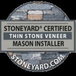 Stoneyard Certified Thing Stone Veneer Mason Installer Logo